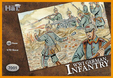 HaT 7001 WWI German Infantry Figures 1:72 Scale