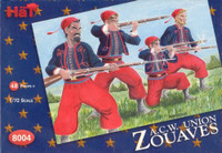 HaT 8004 American Civil War Zouaves  Figures 1:72 Scale