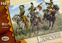 HaT 8011 Napoleonic French Lancers  Figures 1:72 Scale
