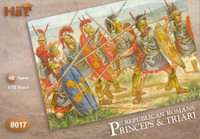 HaT 8017 Republican Roman Princeps and Triari  Figures 1:72 Scale