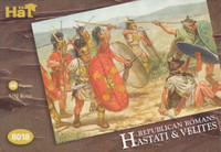 HaT 8018 Republican Roman Hastati and Velites  Figures 1:72 Scale