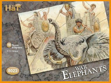 HaT 8023 Carthaginian War Elephants  Figures 1:72 Scale (HAT08023)