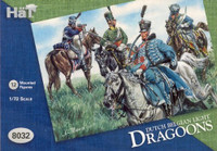 HaT 8032 Waterloo Dutch/Belgian Light Cavalry  Figures 1:72 Scale