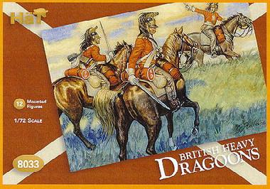 HaT 8033 Napoleonic British Dragoons  Figures 1:72 Scale (HAT08033)