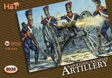 HaT 8038 Napoleonic Bavarian Artillery  Figures 1:72 Scale