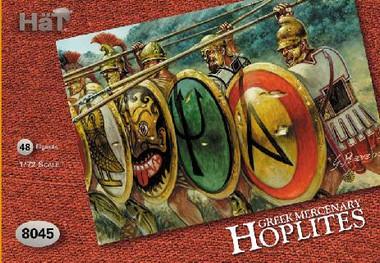 HaT 8045 Greek Mercenary Hoplites Figures 1:72 Scale