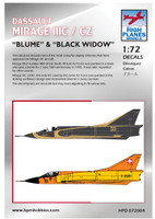"High Planes Dassault Mirage IIIC Swiss Air Force ""Blume"" and SAAF ""Black Widow"" Decals 1:72"