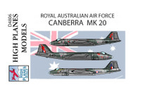 High Planes GAF Canberra Mk 20 RAAF A4 sheet Decals 1:48