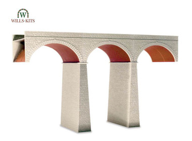 Wills Kits Scenic Series SS80 Three Arch Viaduct OO/HO Lineside Accessories