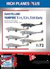 High Planes Plus DeHavilland Vampire T.11, T.31, T.55 early Detail Set Accessories 1:72 (HPL072013)