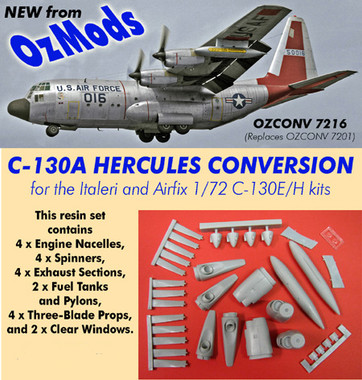 OzMods Scale Models Lockheed C-130A Hercules conversion Accessories 1:72 (OZA07216)