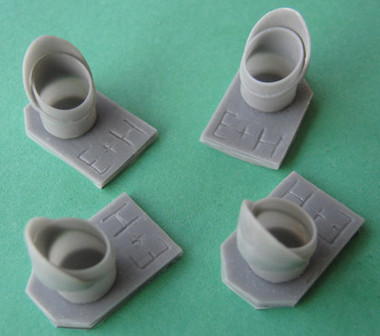 OzMods Scale Models Lockheed C-130E/H Engine Pipes Accessories 1:72 (OZA07213)