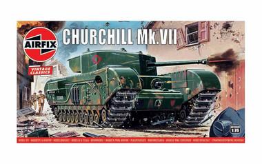 Airfix A01304V Vintage Classics - Churchill Mk.VII Tank 1:76 scale model kit