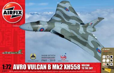 Airfix A50097 Avro Vulcan B Mk2 XH558: Vulcan To The Sky Gift Set 1:72 Scale Model Kit