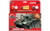 Airfix A55109 Cromwell MkIV Tank Starter Set 1:76 Scale Model Kit