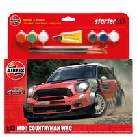 Airfix A55304 MINI Countryman WRC Starter Set 1:32 Scale Model Kit