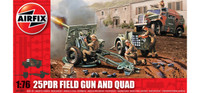 Airfix A01305 25pdr Field Gun and Quad 1:76 Scale Model Kit