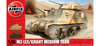 "Airfix A01317 M3 ""Lee Grant"" Medium Tank 1:76 Scale Model Kit"