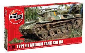 Airfix A01319 Chi Ha Tank - Type 97 1:76 Scale Model Kit