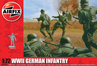 Airfix A01705 WWII German Infantry 1:72 Scale Model Figures
