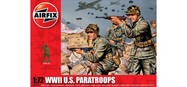 Airfix A01751 WWII US Paratroops 1:72 Scale Model Figures