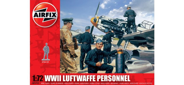 Airfix A01755 WWII Luftwaffe Personnel 1:72 Scale Model Figures