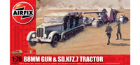 Airfix A02303 88mm Gun & Sd Kfz7 Tractor 1:76 Scale Model Kit