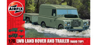 Airfix A02324 LWB Land Rover (Hard Top) and Trailer 1:76 Scale Model Kit