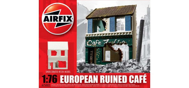 Airfix A75002 European Ruined Cafe 1:76 Scale Model Kit