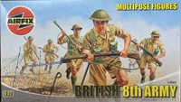 Airfix A03580 British 8th Army Multipose Figures 1:32 Scale Model Kit
