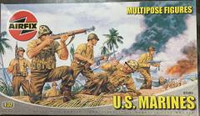 Airfix A03583 U.S. Marines Multipose Figures 1:32 Scale Model Kit