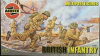 Airfix A03585 British Infantry Multipose Figures 1:32 Scale Model Kit
