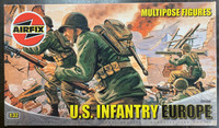 Airfix A03586 U.S. Infantry Europe Multipose Figures 1:32 Scale Model Kit