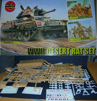 Airfix 08366 Wii Desert Rat Det 1:32 Scale Model Kit