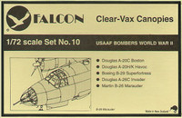 Falcon Clearvax Canopy Set No.10: USAAF Bombers World War II Accessories 1:72