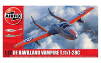 Airfix A02058A deHavilland Vampire T.11 / J-28C 1:72 Scale Model Kit