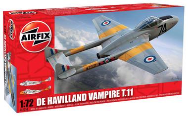 Airfix A02058 de Havilland Vampire T.11 1:72 Scale Model Kit