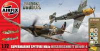 Airfix A50135 Spitfire MkIa and Messerschmitt Bf109E-4 Dogfight Doubles Gift Set 1:72 Scale Model Kit