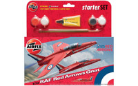 Airfix A55105 Airfix RAF Red Arrows Gnat Starter Set 1:72 Scale Model Kit