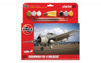 Airfix A55214 Grumman F4F-4 Wildcat Starter Set 1:72 Scale Model Kit