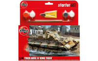Airfix A55303 PZKW VI Ausf.B King Tiger Tank Starter Set 1:76 Scale Model Kit