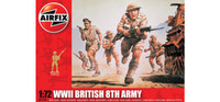 Airfix A01709 WWII British 8th Army 1:72 Scale Model Figures