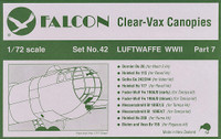 Falcon Clearvax Canopy Set No.42: Luftwaffe World War II Part 7 Accessories 1:72