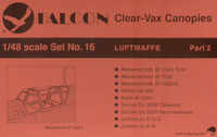Falcon Clearvax Canopy Set No.16: Luftwaffe World War II Part 2 Accessories 1:48
