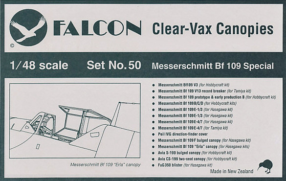Loading zoom  sc 1 st  HPM Hobbies & Falcon Clearvax Canopy Set No.50: Messerschmitt Bf 109 Special