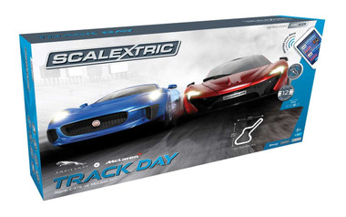 Scalextric C1358F Track Day Set 1:32 ARC Air Slot Car Race Ready Set