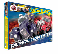 Scalextric C1301F Demolition Derby Set Slot Car Race Ready Set