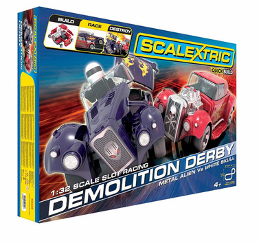 Scalextric C1301F Demolition Derby Set Slot Car Race Ready Set