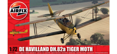 Airfix de Havilland Tiger moth 1:72 Scale Model Kit
