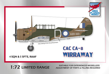 High Planes CAC Wirraway RAAF WWII Kit 1:72